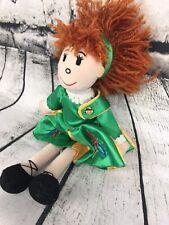 "Kiddiefun St. Patty Irish Ireland Plush Soft Toy Red Hair Doll 13"" Celtic Dancer"
