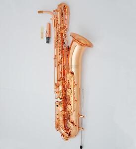 NEW Professional Eb Baritone Saxophone Rose Gold Plating Support Bari Sax W/Case