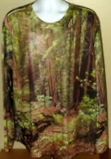 Get A Life Long Sleeve Forest Trees Camo Realistic Photo Shirt XXL 2XL