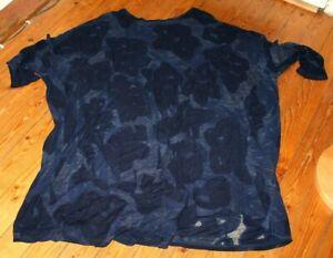 RUNDHOLZ Black Label Tunika Kleid kastig weit OS blau Lagenlook