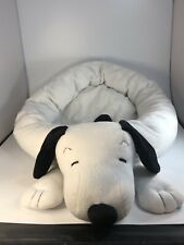 New listing Vintage Peanuts Snoopy Large 24� Black White Pet Bed For Dogs And Cats
