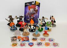 Disney Infinity Lot 13 Figures & 9 Power Discs Star Wars Pirates Aladdin Mickey+