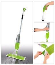 Spray Mop Wet Hard Wood Floor Tile Cleaning Washable Microfibre Pad Flat Cleaner