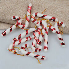 12x Lots Red Candy Cane Hanging Ornament Christmas Home Party Xmas Tree Decor