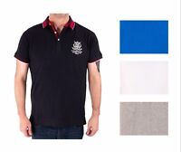 Mens Polo Shirt Rugby Cotton New Equestrian Quality S M L XL Designer Cambridge