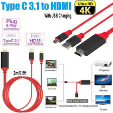 USB 3.1 Type-C Thunderbolt 3 to HDMI Adapter Cable 4K For Oppo Reno 10x Zoom AU