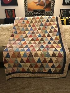 Homemade Quilt Fall Colors  78 X 98