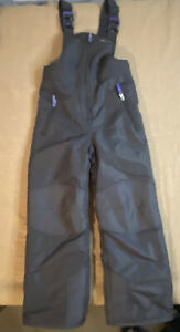 Champion Snow Bib Insulated Snow Ski Suit Youth Sz Small 6-6X Grey/purple