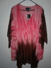 Original Anthony Blouse Women's Size 3X Caftan Drape Bright Colors Artsy