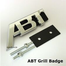 Chrome ABT SPORTS LINE Grill Badge Emblem Decal VW Volkswagen Audi Seat Skoda