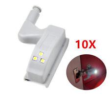 10Pcs LED Cabinet Cupboard Closet Light Wardrobe Hinge Sensor Light Night Lights