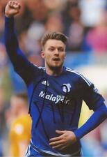 CARDIFF: ANTHONY PILKINGTON SIGNED 6x4 ACTION PHOTO+COA