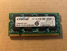 Crucial 2Gb 200Pin Ddr2 Sodimm 256Mx64 Laptop Ram Memory Ct25664Ac667.M16Fh