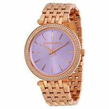 Michael Kors MK3400 Darci Rose Gold Glitz Purple Face Women's Watch