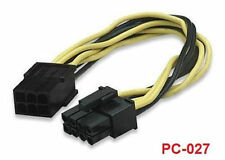 """8"""" 6-Pin (2x3) PCI-Express to 8-Pin (2x4) PCI-Express Cable, CablesOnline PC-027"""
