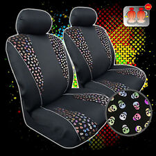 New Pair Skull Bronzing Flannelette Suede w/t Mesh Car Seat Covers For Tacoma