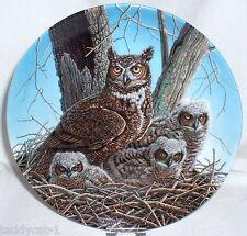 The Stately Owls ~ Würdevolle Eulen ~ 2. Bradex Sammelteller DER UHU / HORNEULE