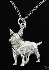 ARGENTO 925 Bull Terrier Inglese DOG PENDANT & catena UK