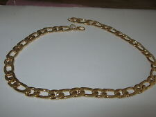FIGARO CHAIN  HEAVY WEIGHT GOLD MIXED  METAL SIZE 20in