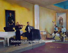 """Oil Painting of ss NORWAY Interior""""Club Internationale"""""""