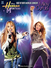 Hannah montana miley cyrus best of both worlds concert musique livre piano guitare