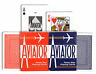 2 pack AVIATOR decks Playing Cards Poker size blue and red USPC bicycle made