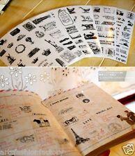 6 Sheet Transparent Daily Scrapbook Deco Craft Stickers Eiffel Tower B&W Sticker