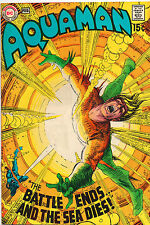 Aquaman #49 - Awesome Explosion Cover - (Grade 7.5) 1970