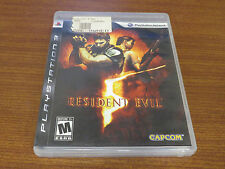 PLAYSTATION 3 PS3 GAME RESIDENT EVIL 5 COMPLETE > SHIPS FREE! E