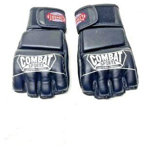 Combat Sports International Mens MMA Sparring Gloves Black Hook And Loop Regular
