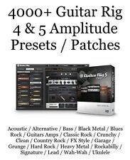 4000+ Guitar Rig 4 & 5 Amplitude Presets / Patches / Native Instruments /