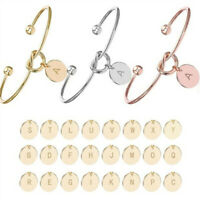 Initial Knot Bracelet Creative Simple Opening Bangle Bridesmaid Letter Jewelry