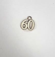 Plaqué Argent 60 Porte-clés Charme Cadeau Bracelet Couleur crème Pendentif attacher