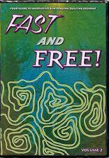 NEW DVD: FREE MOTION Machine Quilting Volume 2 Patsy Thompson Intermediate