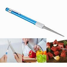 Diamond Knife Sharpener Sharpening Rod Kitchen Stick Steel Blade Grit Carbon New