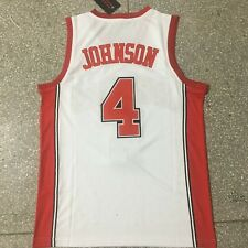 Vintage Larry Johnson #4 Basketball Jerseys Grandmama College Streetball Shirts