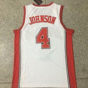 Vintage Larry Johnson #4 Basketball Jerseys Grandmama College Streetball Shirts