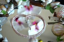 Lovely Creamy Seed Pearl & Italian .925 Sterling Silver Bracelet 9 to 10 inches