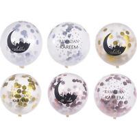 6pcs Eid Mubarak Balloons Ramadan Muslim Festival Decor Islamic Confetti Ball IY