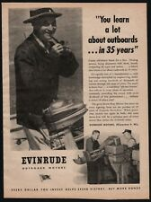 1945 EVINRUDE Outboard Motor AD made for WWII Storm Boats