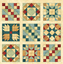 Quilt Blocks 1/2 Panel, 30 Blocks,  Stitch in Time, 39357 11  REMNANT (11 in)