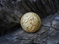 Old Rare Vintage Antique War Relic Gold Federal Marine Button Eagle over Anchor