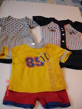 BOYS LOT - 3 COMPLETE SHORTS OUTFITS, SIZES: 18 Months