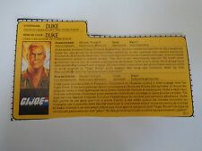Gi Joe BELGIAN FILE CARD DUKE TIGER FORCE BE/NL FRENCH DUTCH