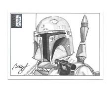 2010 STAR WARS GALAXY 6 BOBA FETT SKETCH 1/1 BY ROBERT HENDRICKSON