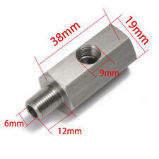 "1/8"" Oil Pressure Sensor Tee to NPT Adapter Turbo Supply Feed Line Gauge M12x1.5"