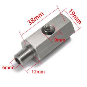 "1/8"" Oil Pressure Sensor Tee to NPT Adapter Turbo Supply Feed Line Gauge M12x1.5"
