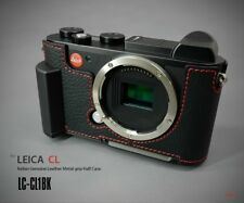 LIM'S Genuine Leather Camera Half Case + Dovetail Plate + Grip For Leica CL / BK