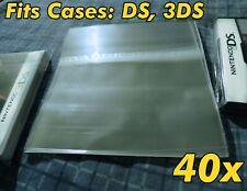40x Nintendo DS 3DS Game Case Resealable Protective Sleeve Bags Sleeves OPP