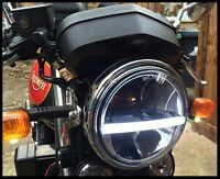 "Headlight LED  x1 DRL Light 7"" Cafe Racer Motorbike Bike Classic E APPROVED 720"